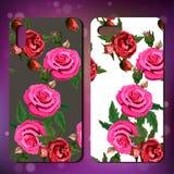 Copertura del telefono con le rose Immagini Stock Libere da Diritti