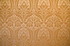 Copertura della parete del tessuto del damasco Immagini Stock Libere da Diritti