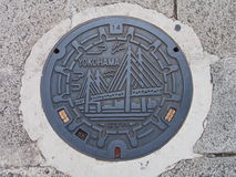 Copertura di botola di Yokohama, Giappone Fotografia Stock