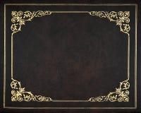 Copertura di cuoio scura Fotografia Stock
