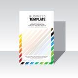 Copertura di progettazione dell'opuscolo di affari - modello di vettore Fotografie Stock Libere da Diritti