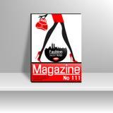 Copertura di rivista con modo Fotografia Stock
