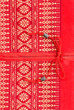 Copertura di seta di struttura del cuscino del cuscino di stile tailandese Fotografia Stock Libera da Diritti