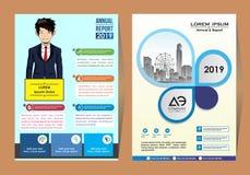 Copertura e disposizione astratte per la presentazione e l'introduzione sul mercato illustrazione di stock