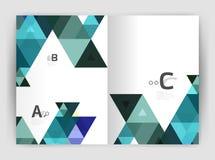 Copertura geometrica moderna del rapporto annuale di vettore royalty illustrazione gratis