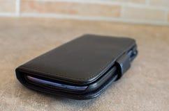 Copertura nera dello smartphone Fotografie Stock