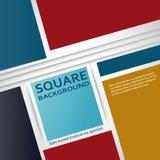 Copertura piana di progettazione dei quadrati di vettore royalty illustrazione gratis