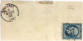 Copertura postale antica Fotografie Stock