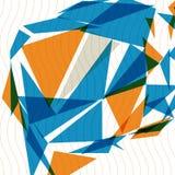 Copertura spaziale variopinta di tecnologia 3d, fondo complicato di arte op Fotografia Stock