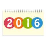Copertura a spirale del calendario 2016 Immagini Stock Libere da Diritti
