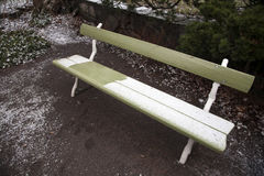 Copertura verde del banco da neve Fotografia Stock