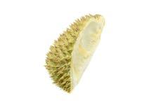 Coperture del Durian, spine del durian su fondo bianco Fotografie Stock