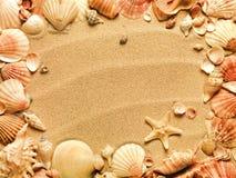 Coperture del mare con la sabbia Fotografie Stock