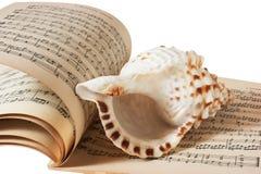 Coperture del mare e libro di musica Immagini Stock Libere da Diritti