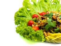 Coperture dell'insalata dell'alimento della Tailandia. immagine stock libera da diritti