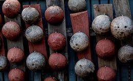 Coperture della noce di cocco Immagini Stock