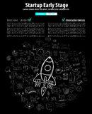 Coperture della pagina Web Startup di atterraggio o di progettazione corporativa Fotografia Stock