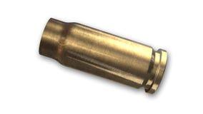Coperture della pallottola isolate sulla vista laterale bianca e Fotografie Stock Libere da Diritti