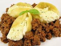 Coperture della pasta & salsa farcite 3 Fotografia Stock