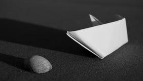 Coperture di carta del mare e della barca Immagine Stock Libera da Diritti