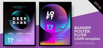 Coperture di musica per l'aletta di filatoio elettronica del partito del Fest o del club di estate Illustrazione Vettoriale