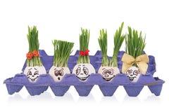 Coperture dipinte delle uova Fotografia Stock