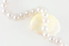 Coperture e corda delle perle Immagine Stock