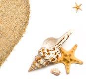 Coperture e sabbia del mare Fotografia Stock Libera da Diritti