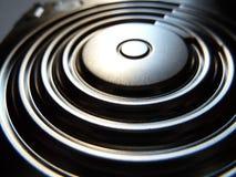 Coperture lucide del metallo del disco rigido Fotografie Stock