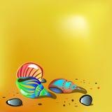 Coperture luminose sulla sabbia Illustrazione di vettore illustrazione di stock