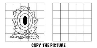 Copi l'immagine Mostro straniero pazzo con un occhio enorme illustrazione di stock