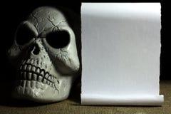 Copi lo spazio per il messaggio di Halloween Fotografia Stock