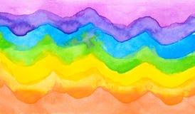 Copi lo spazio sul fondo variopinto di colore di acqua Immagine Stock