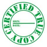 Copia allineare certificata Fotografia Stock Libera da Diritti