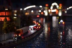 Copia artificiale di St Petersburg alla notte Immagine Stock