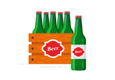 Copia Beer-bottles-box-flat-2 Fotografie Stock