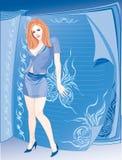 Copia-bookgirl Imágenes de archivo libres de regalías