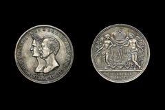 Copia de la moneda con el emperador ruso Alejandro II Fotografía de archivo