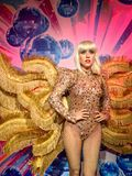 Copia de señora Gaga en cera fotografía de archivo