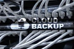 Copia de seguridad de la nube Prevención de la pérdida de datos del servidor Seguridad cibernética foto de archivo libre de regalías