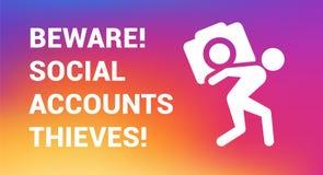 copia del Instagram-ladrón Foto de archivo libre de regalías