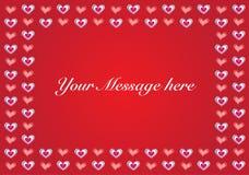 Copia-espacio del backgroundwith del vector de la tarjeta del día de San Valentín Imagen de archivo
