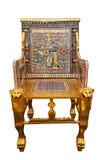 Copia moderna del trono de oro de rey Tutankhamun Foto de archivo