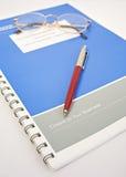 Copia rilegata: resoconti annuali. Fotografie Stock Libere da Diritti