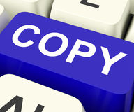 Copiado duplicado o réplica del medio de las llaves de la copia imágenes de archivo libres de regalías