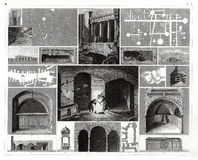 Copie 1874 antique des catacombes à Rome, Italie Illustration Libre de Droits