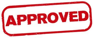 Copie approuvée rouge de tampon en caoutchouc Photos libres de droits