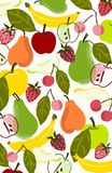 Copie colorée d'illustration ou de placement de fond de fruit Photographie stock
