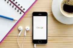 Copie d'écran d'application de Google Images libres de droits