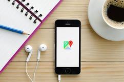 Copie d'écran de Google Maps Photos libres de droits